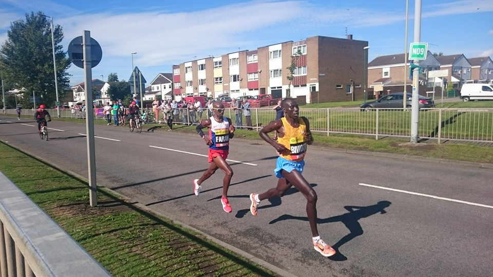 Mo Farah in the 2015 Great North Run