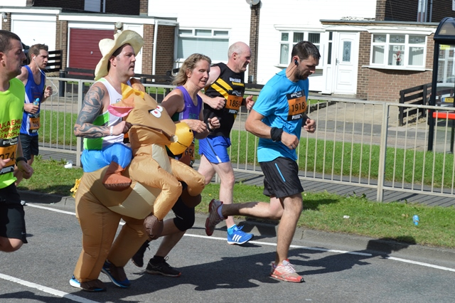 Great North Run charity runners