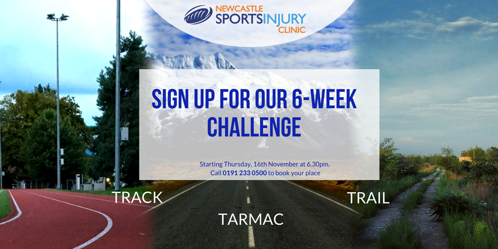 Track, Trail & Tarmac - 6-week challenge for social media Nov 17