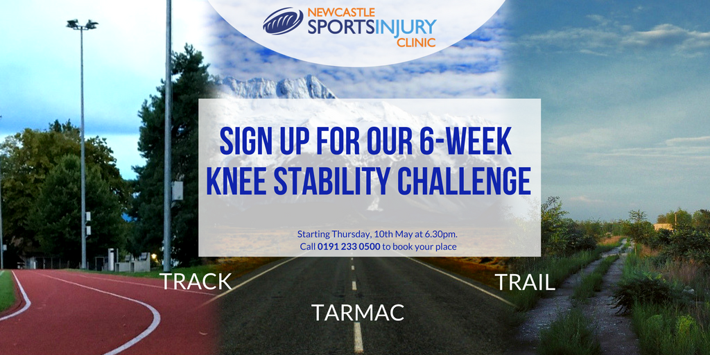New 6-week Track, Trail & Tarmac Knee Stability Challenge