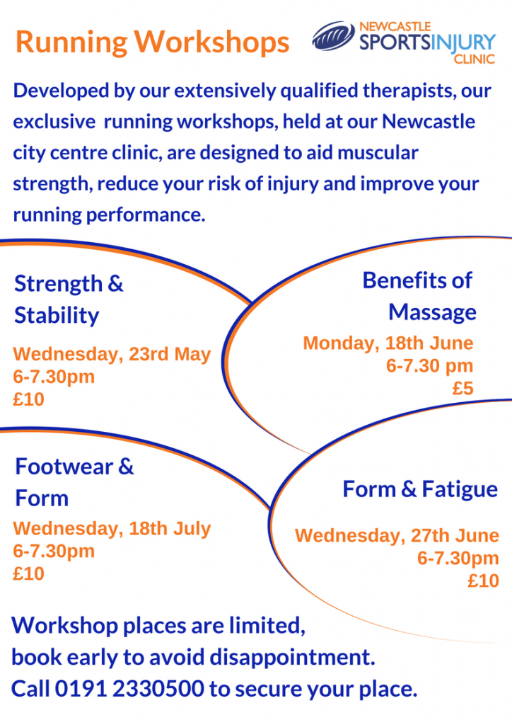 Running workshops flyer
