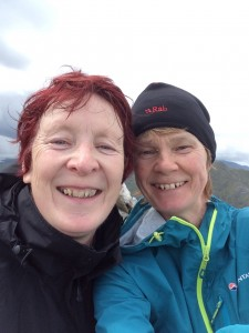 Vera Wealleans (left) and Carol English (right) take on the Munros Bagging challenge.