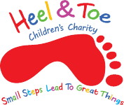 We raised £100 for local charity Heel and Toe Children's Charity