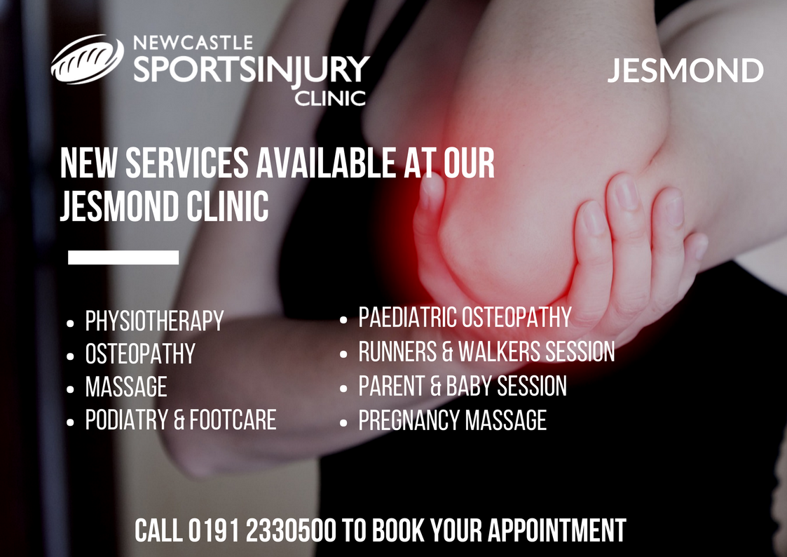 New services at Newcastle Sports Injury Clinic – Jesmond